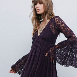 NWT Free People Love From India Lace Babydoll Dres